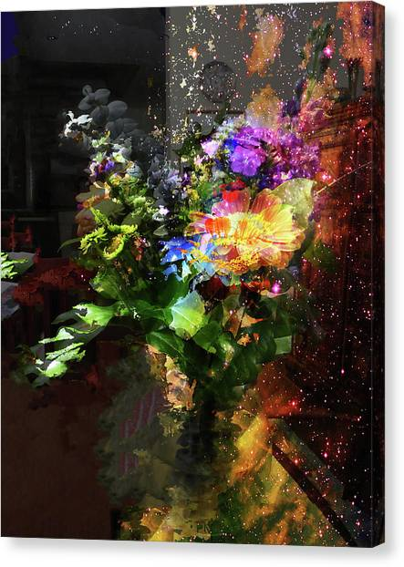 Abstract Flowers Of Light Series #17 Canvas Print