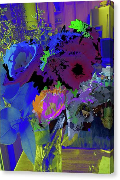 Abstract Flowers Of Light Series #18 Canvas Print