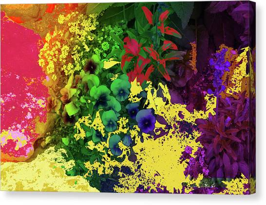 Abstract Flowers Of Light Series #2 Canvas Print