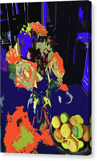 Abstract Flowers Of Light Series #8 Canvas Print