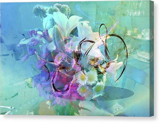 Abstract Flowers Of Light Series #9 Canvas Print