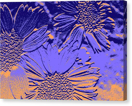 Abstract Flowers 2 Canvas Print