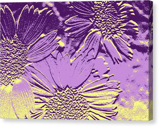 Abstract Flowers 3 Canvas Print
