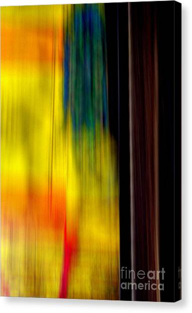 Abstract-from A Rolling Train Canvas Print