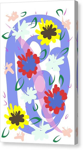 Canvas Print featuring the digital art Abstract Garden #1 by Bee-Bee Deigner