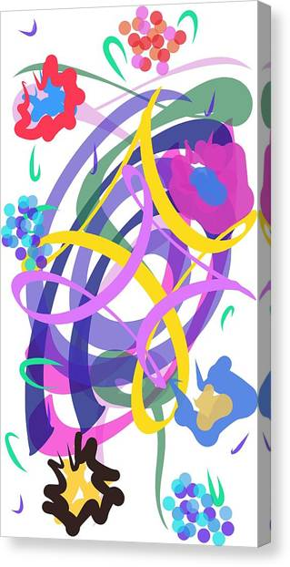 Canvas Print featuring the digital art Abstract Garden #2 by Bee-Bee Deigner