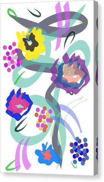 Canvas Print featuring the digital art Abstract Garden Nr 4 by Bee-Bee Deigner