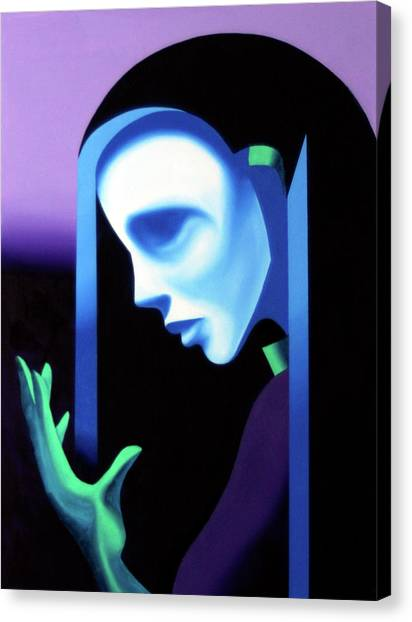 Abstract Ghost Mask Canvas Print by Mark Webster