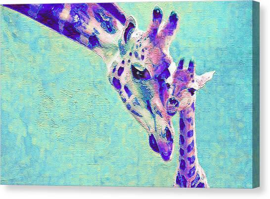 Abstract Giraffes Canvas Print