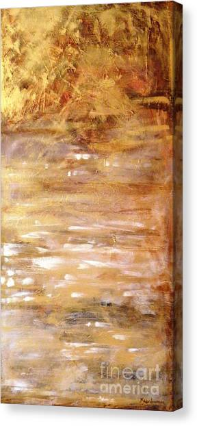 Abstract Golden Sunrise Beach  Canvas Print