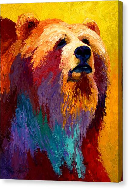 Denali Canvas Print - Abstract Grizz by Marion Rose