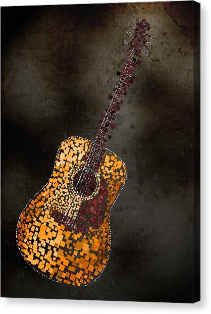 Squares Canvas Print - Abstract Guitar by Michael Tompsett