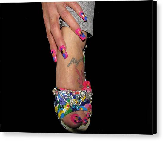 Abstract High Heel Shoe Canvas Print by HollyWood Creation By linda zanini