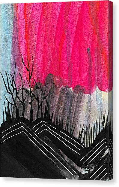 Abstract Hills 1 Canvas Print