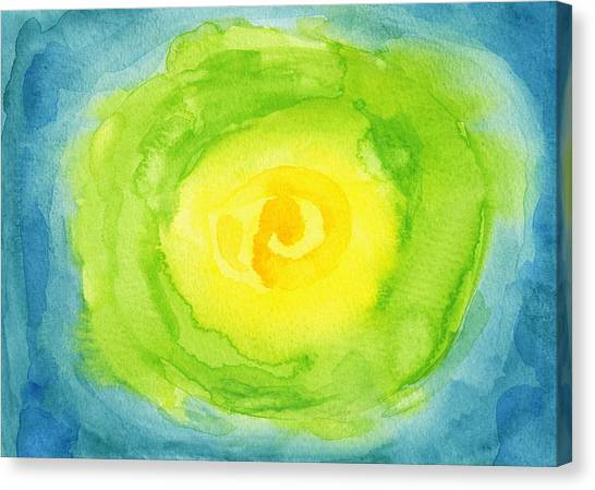 Lettuce Canvas Print - Abstract Iceberg Lettuce by Kathleen Wong