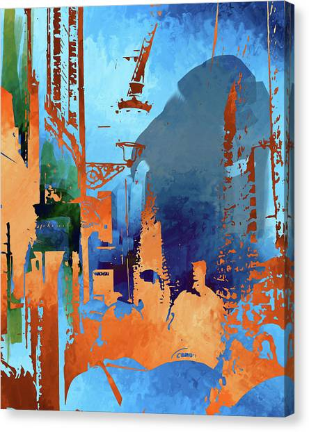 Abstract  Images Of Urban Landscape Series #1 Canvas Print