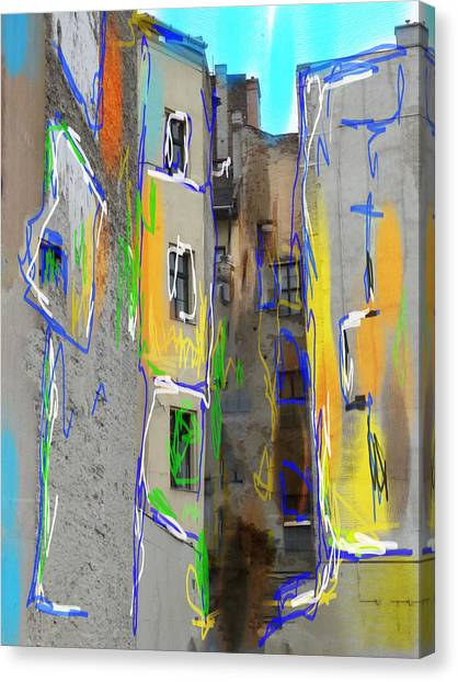 Abstract  Images Of Urban Landscape Series #13 Canvas Print