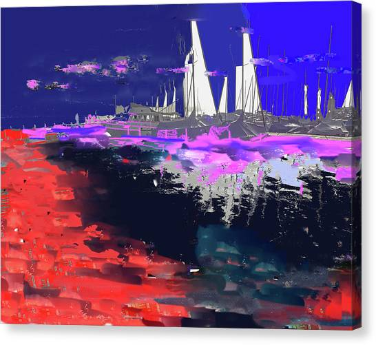 Abstract  Images Of Urban Landscape Series #14 Canvas Print