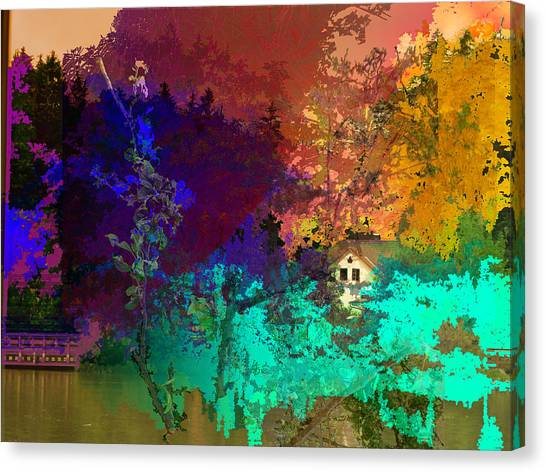 Abstract  Images Of Urban Landscape Series #4 Canvas Print