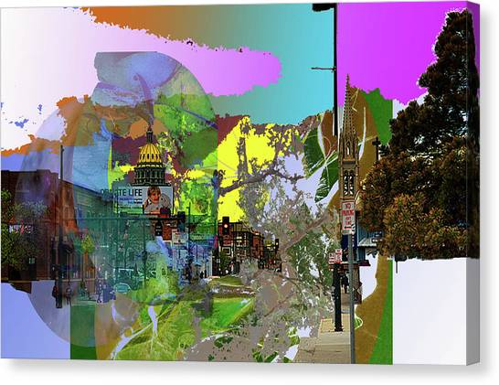 Abstract  Images Of Urban Landscape Series #5 Canvas Print