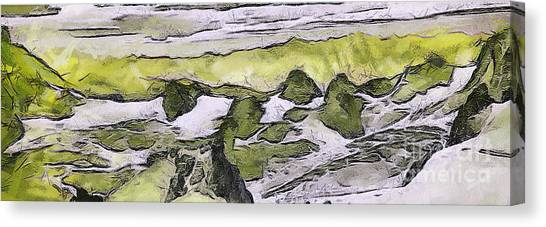 Abstract In Green Canvas Print