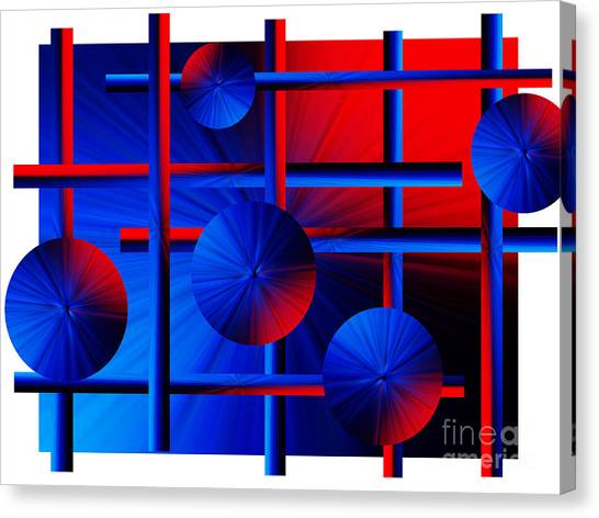 Abstract In Red/blue Canvas Print
