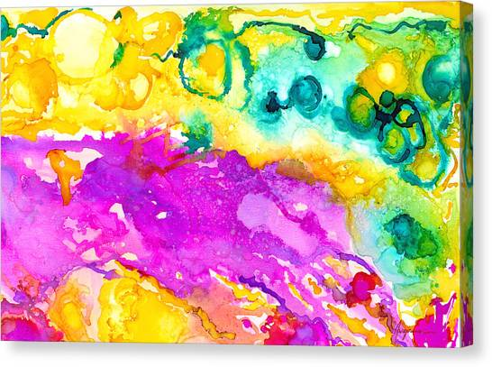 Outer Rim Canvas Print - Transcendent Love Abstract Ink Art Colorful Wall Art by Patricia Awapara