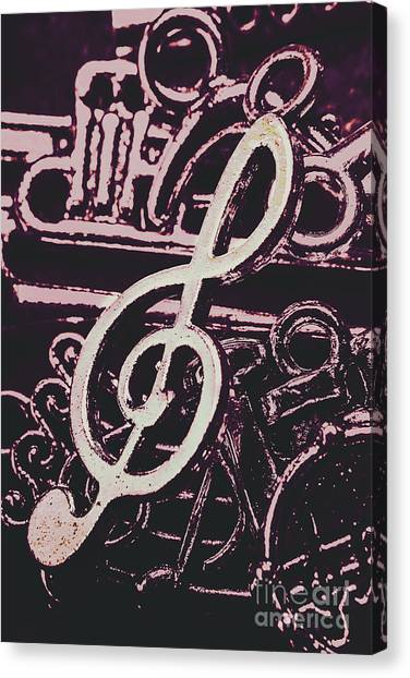 Notes Canvas Print - Abstract Instrument Stave by Jorgo Photography - Wall Art Gallery