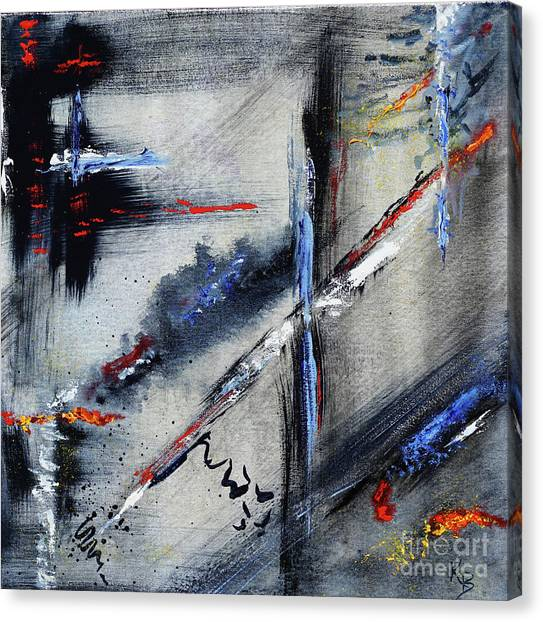 Canvas Print featuring the painting Abstract by Karen Fleschler