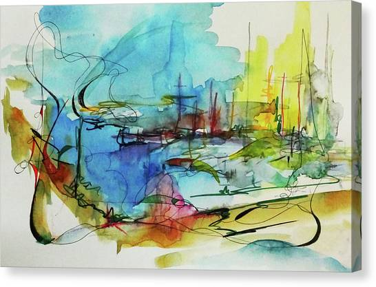 Abstract Landscape #1 Canvas Print