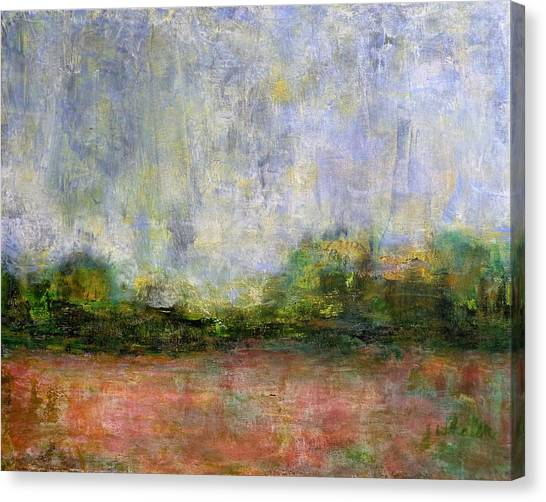 Abstract Landscape #310 - Spring Rain Canvas Print