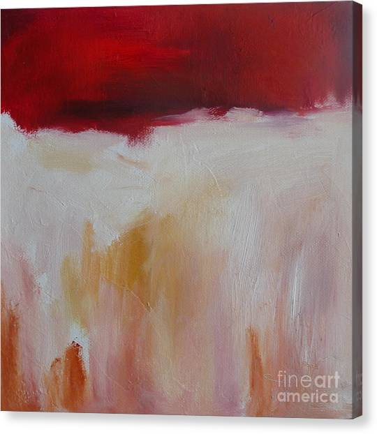 Abstract Landscape In Red Canvas Print by Xx X