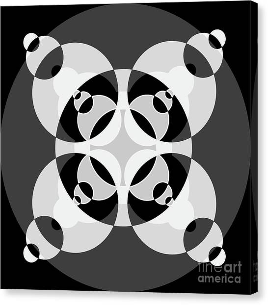 Arte Canvas Print - Abstract Mandala Black, Gray And White Pattern For Home Decoration by Drawspots Illustrations