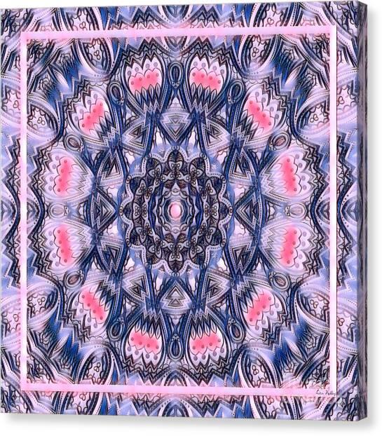 Abstract Mandala Pattern Canvas Print