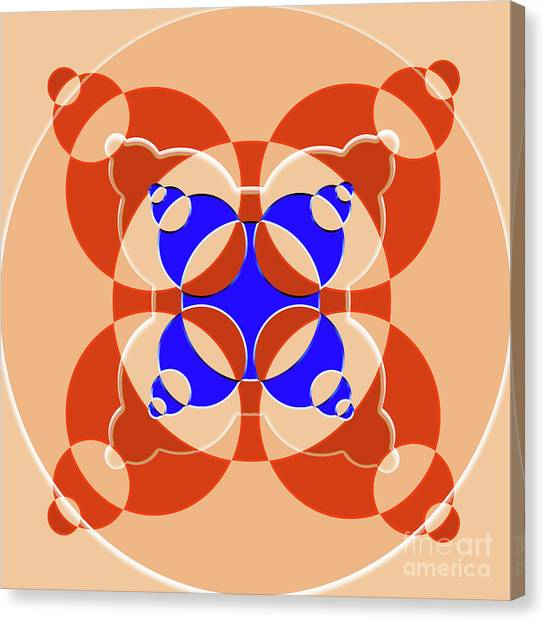 Arte Canvas Print - Abstract Mandala Pink, Orange And Blue Pattern For Home Decoration by Drawspots Illustrations