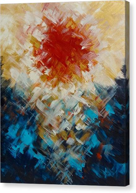 Abstract Blood Moon Canvas Print