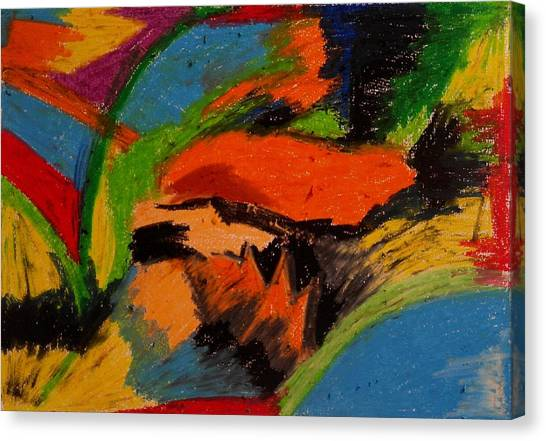 Abstract No. 4 Inner Landscape Canvas Print