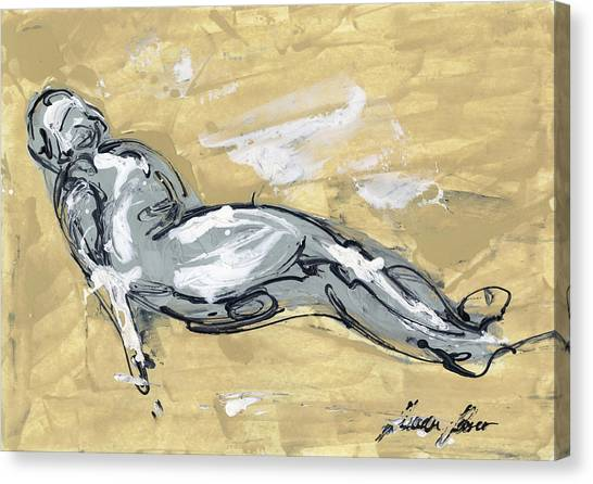 Female Nudes Canvas Print - Abstract Nude by Juan Bosco