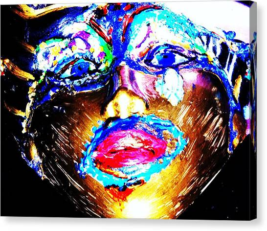 Abstract Of Faces Canvas Print by HollyWood Creation By linda zanini