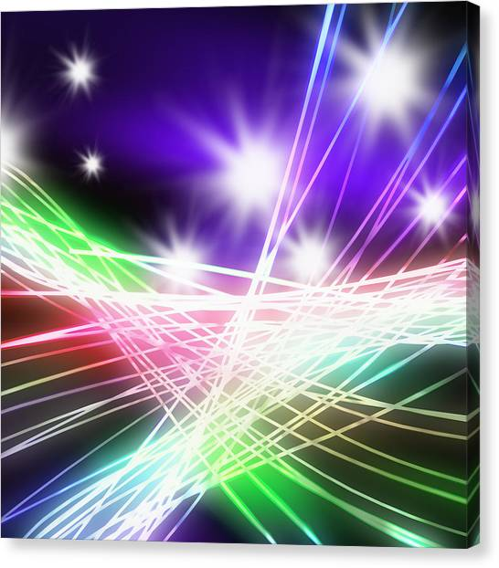 Motherboard Canvas Print - Abstract Of Stage Concert Lighting by Setsiri Silapasuwanchai