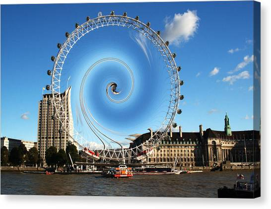 Abstract Of The Millennium Wheel Canvas Print
