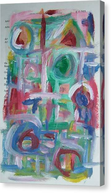 Abstract On Paper No. 38 Canvas Print by Michael Henderson