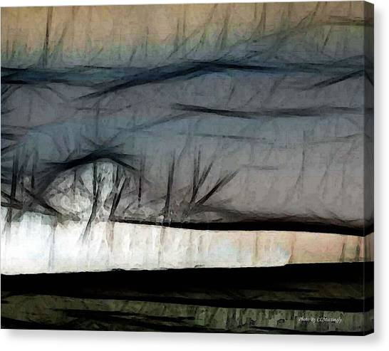 Abstract On River Canvas Print