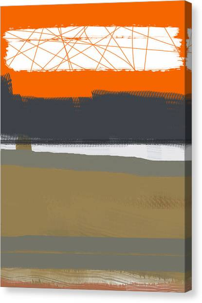Abstract Designs Canvas Print - Abstract Orange 1 by Naxart Studio