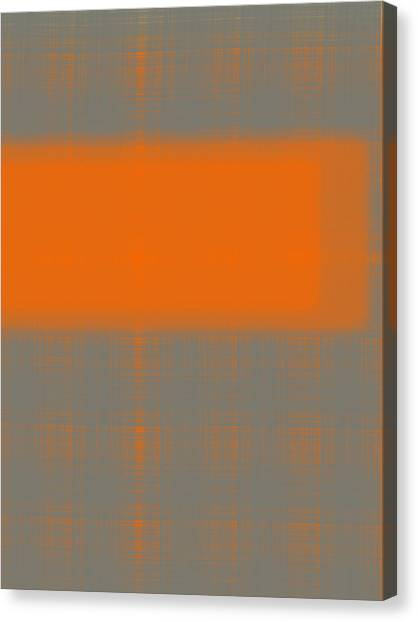 Abstract Designs Canvas Print - Abstract Orange 3 by Naxart Studio