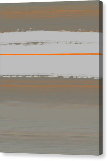 Abstract Designs Canvas Print - Abstract Orange 4 by Naxart Studio