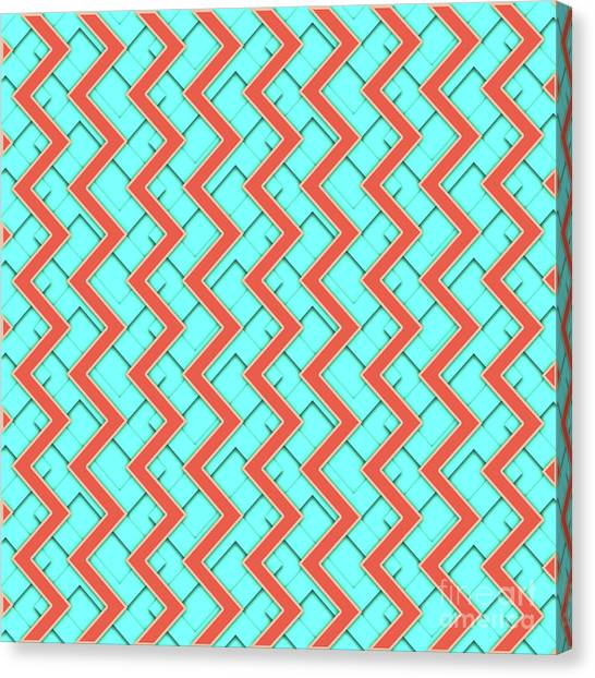 Arte Canvas Print - Abstract Orange, Yellow And Cyan Pattern For Home Decoration by Drawspots Illustrations