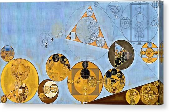 Polo Canvas Print - Abstract Painting - Beau Blue by Vitaliy Gladkiy
