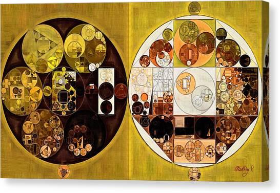 Brown University Canvas Print - Abstract Painting - Beeswax by Vitaliy Gladkiy