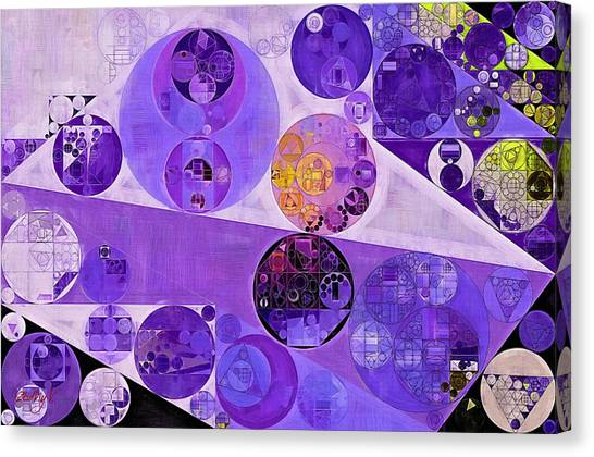 Abstract Painting - Blackcurrant Canvas Print